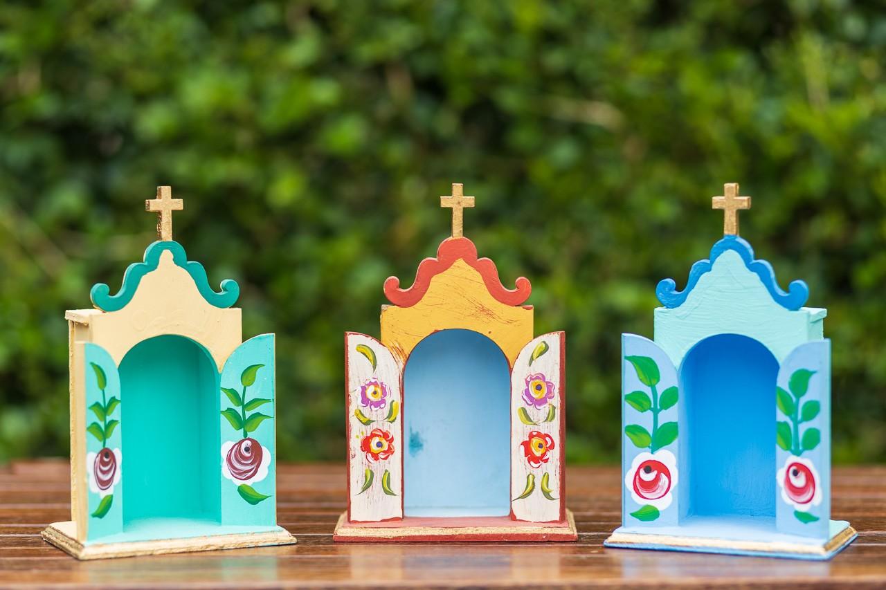 Kit Mini Oratórios em Madeira