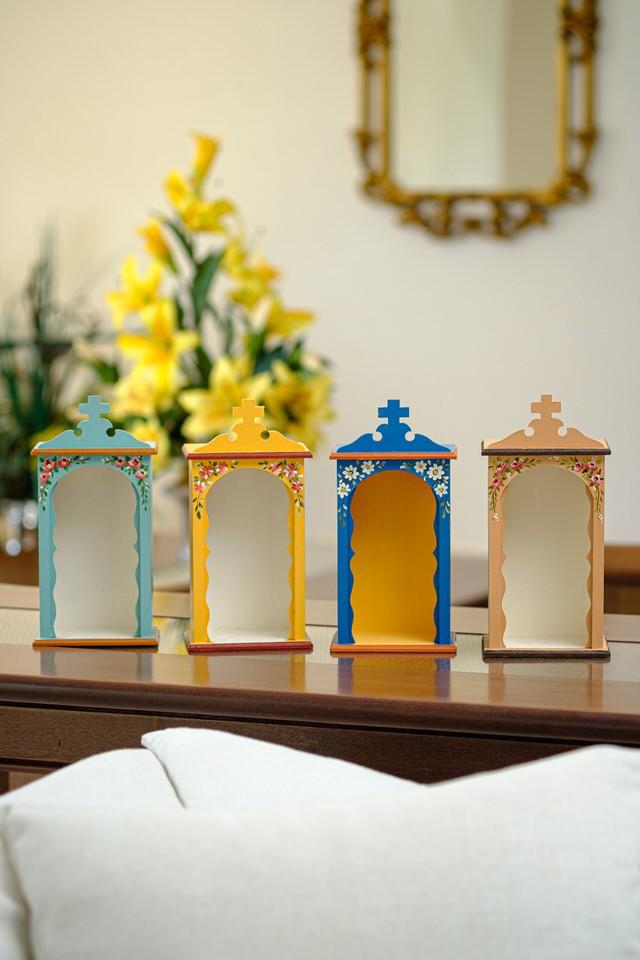 Kit Mini Oratórios em Madeira sem Portas