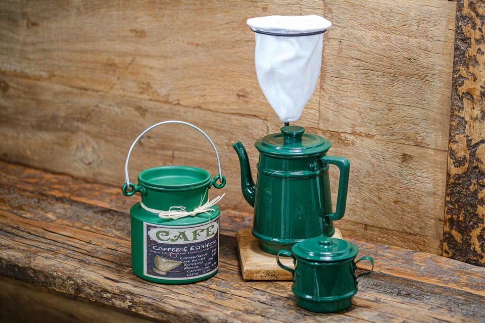 Kit para café 01 litro Verde escuro