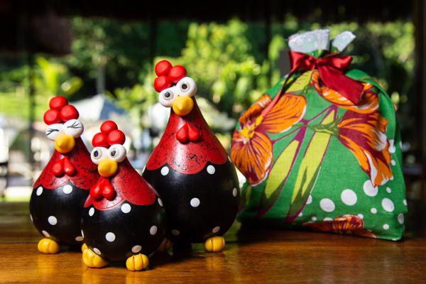 Kit para presente  trios de galinhas