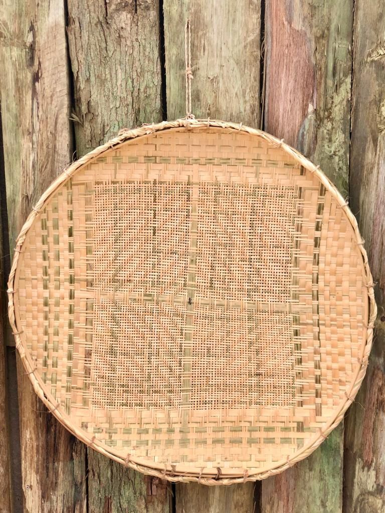 Kit Peneiras Artesanais de Bambu e Palha
