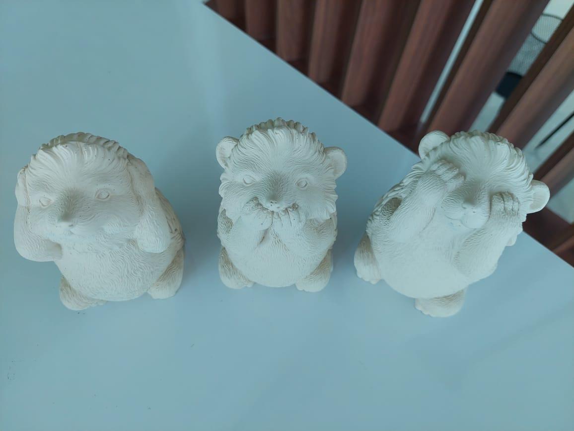 Kit Porcos Espinhos em Cimento