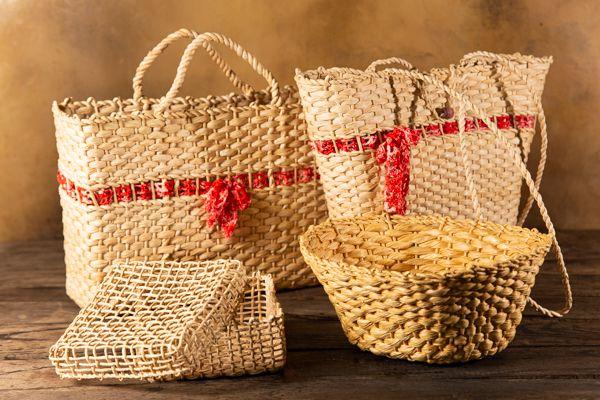 Kit produtos de palha mineiro
