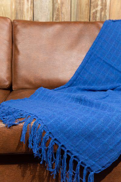 Manta para Sofá - Azul Caneta