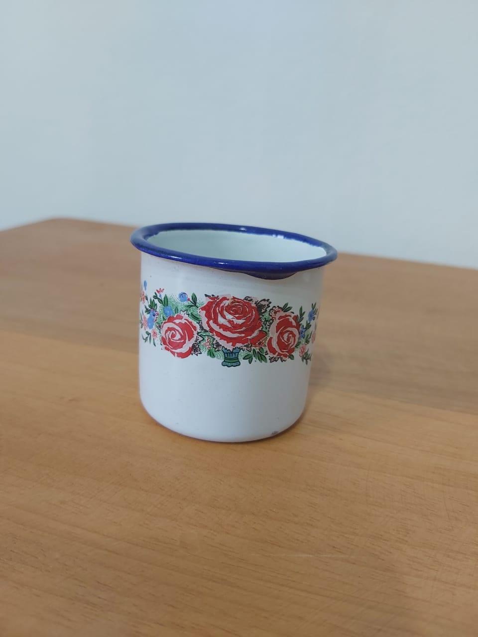 Mini Caneca 50 ml branca estampada