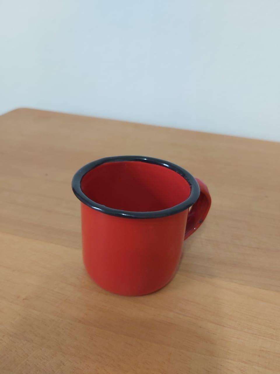 Mini Caneca vermelha  50 ml