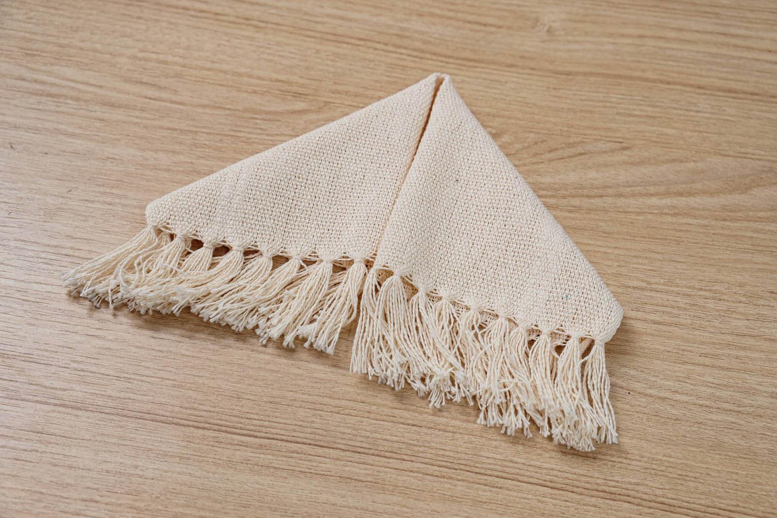 Mini guardanapo em algodão Cru unidade