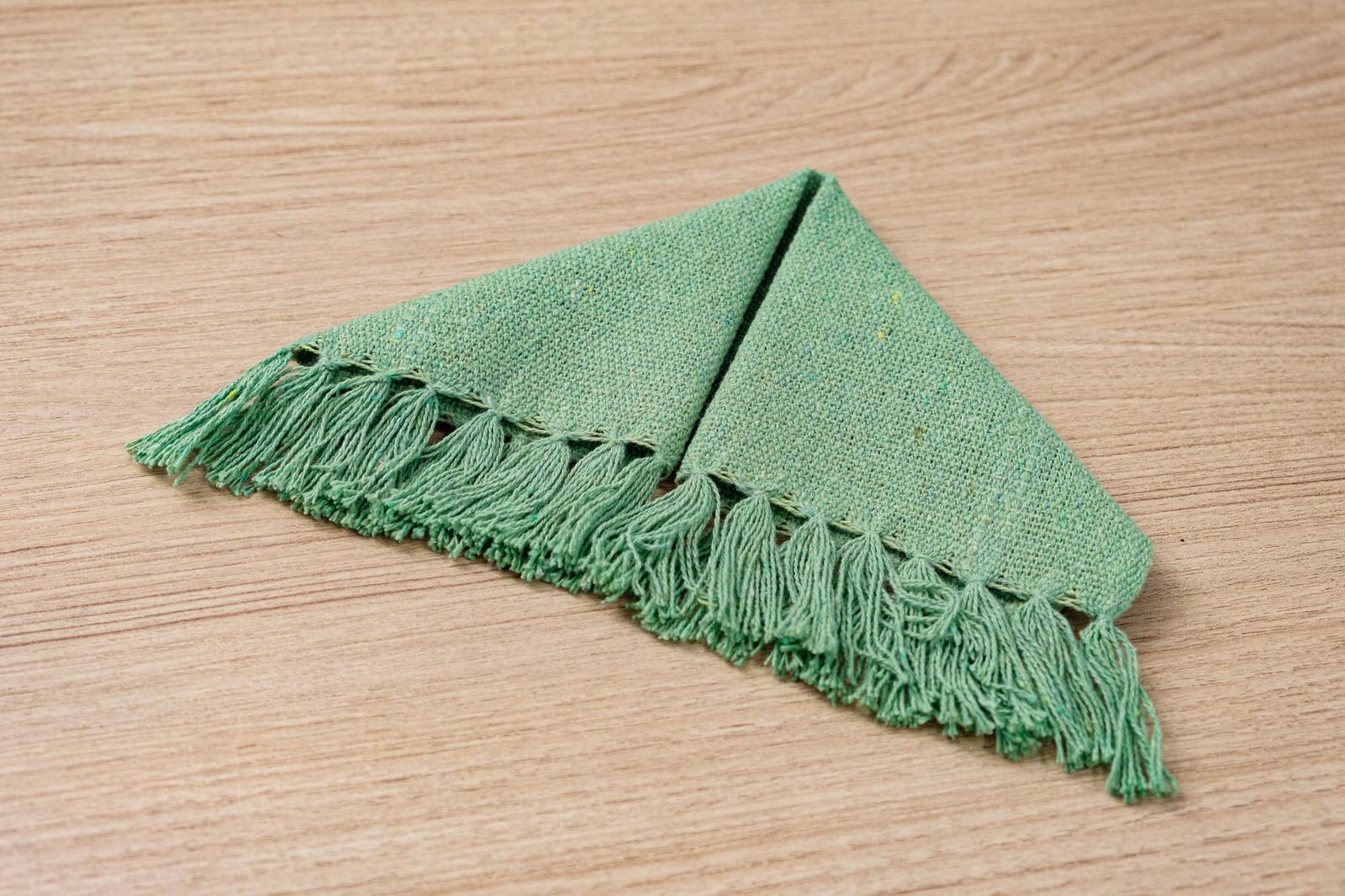 Mini guardanapo em algodão Verde claro unidade
