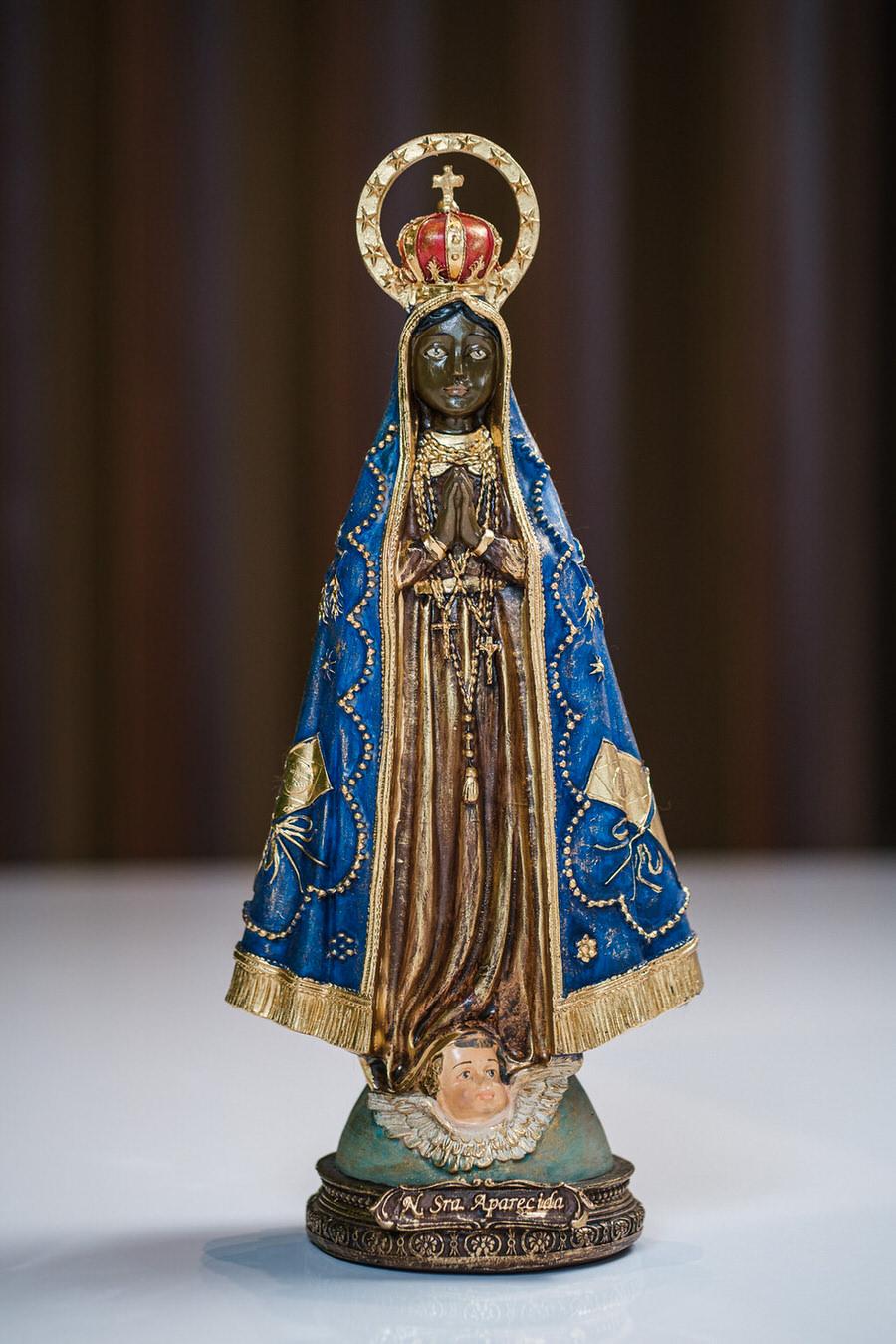 Nossa Senhora Aparecida em Resina com Arco - 30 cm