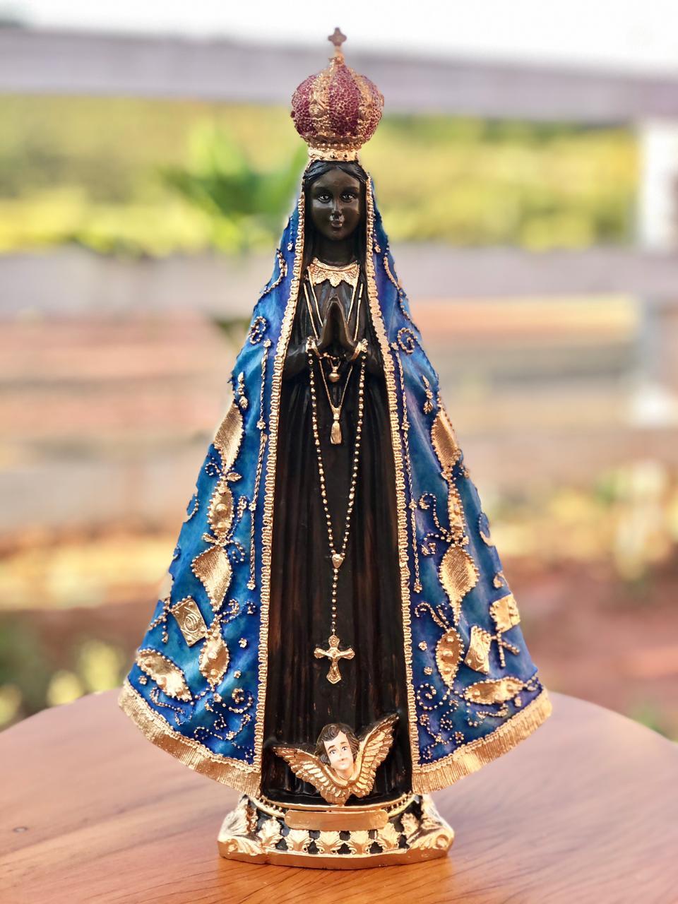 Nossa Senhora Aparecida em Resina - 30 cm