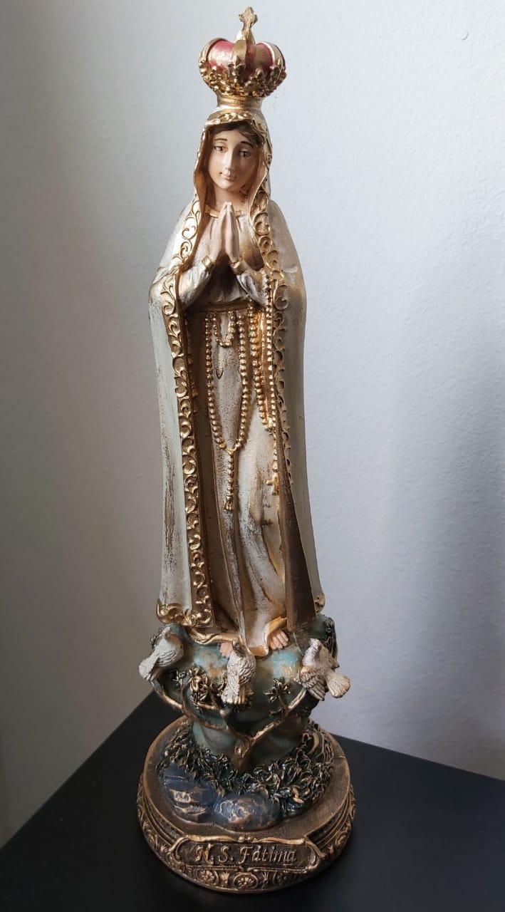 Nossa Senhora de Fátima em Resina - 30 cm