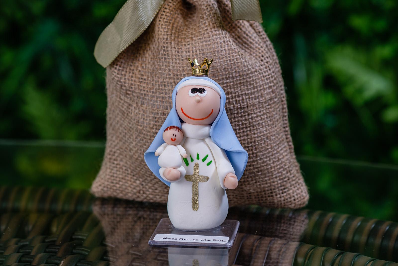 Nossa Senhora do Bom Parto em Biscuit