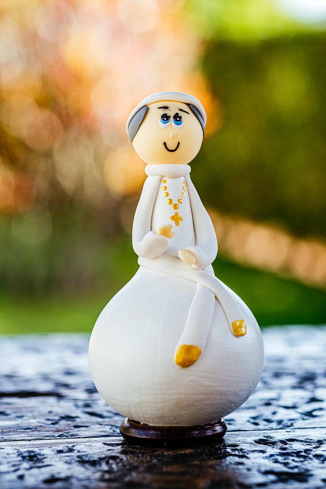 Santo em Cabaça - Papa