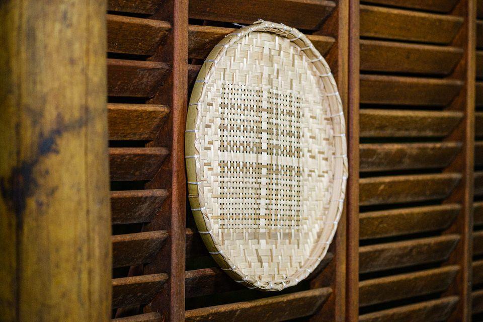 Peneira Artesanal de Bambu e Palha