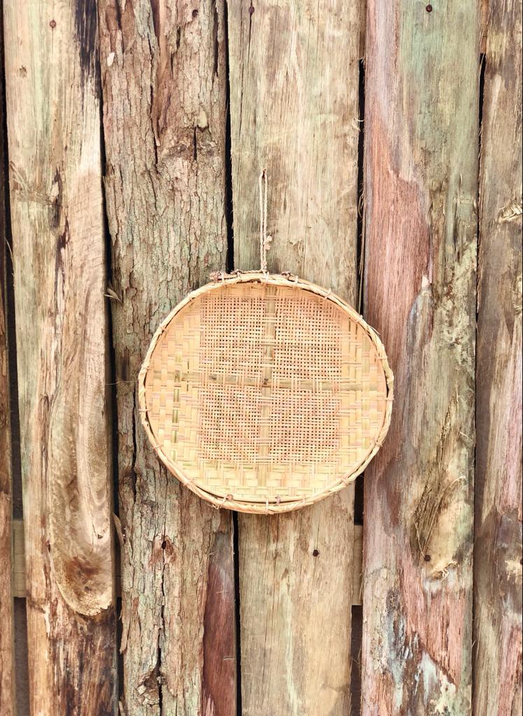 Peneira Artesanal de Bambu e Palha - 30 cm