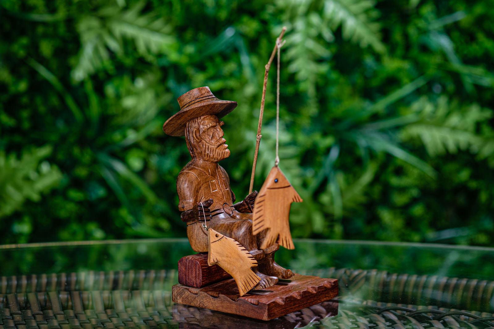 Pescador em Madeira