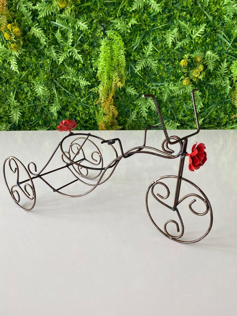 Porta Vinho e Taças Bicicleta Adega