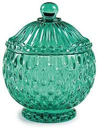 Pote esmeralda em vidro