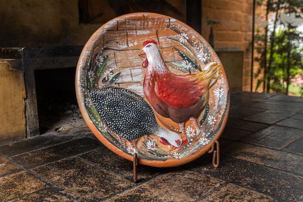 Pratos em argila decoração grande