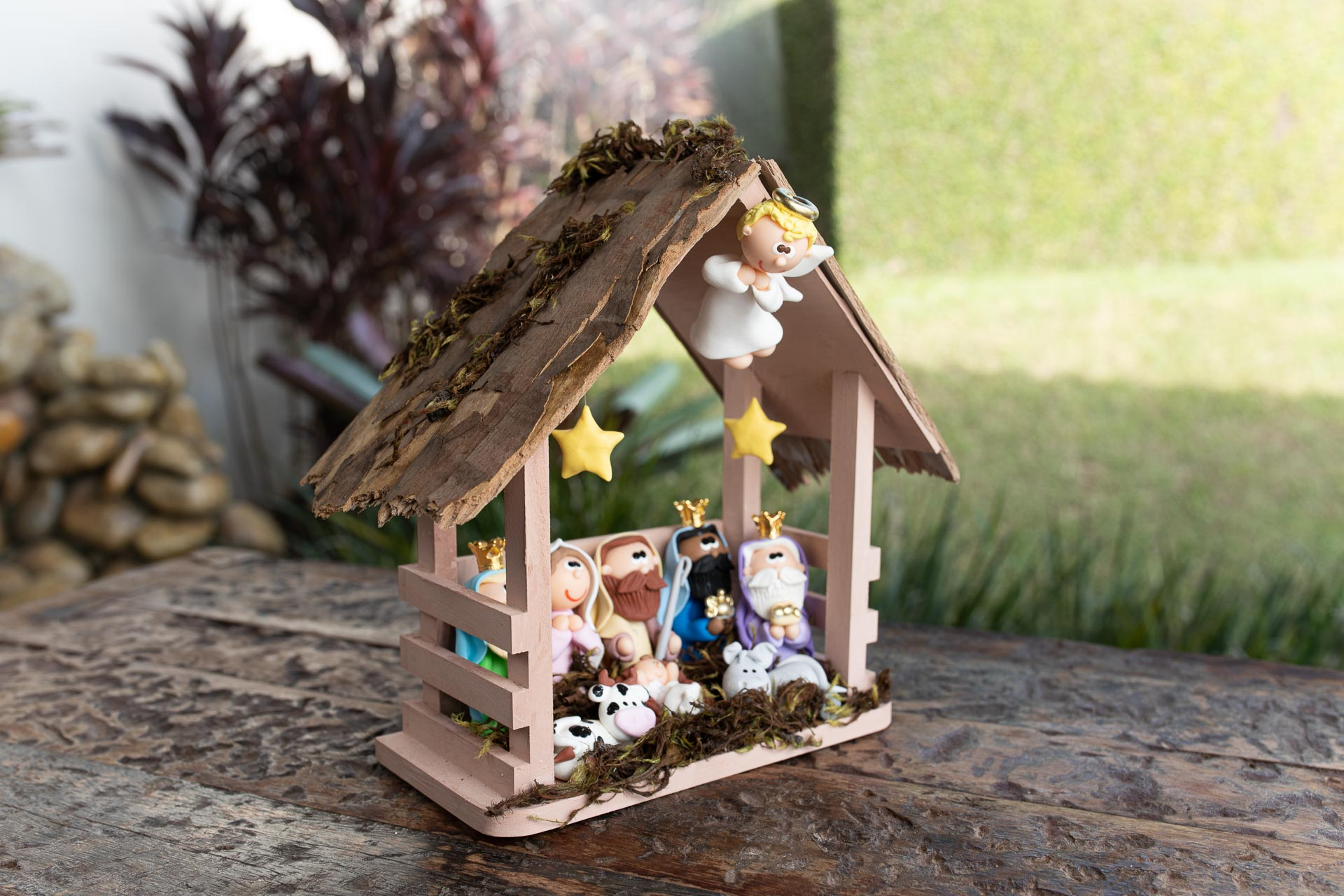 Presépio de Natal em Biscuit