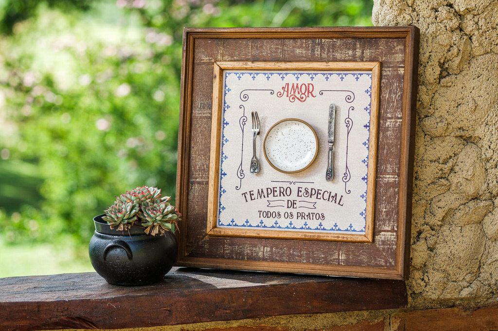 Quadro Amor Tempero Especial - 42 x 42 cm