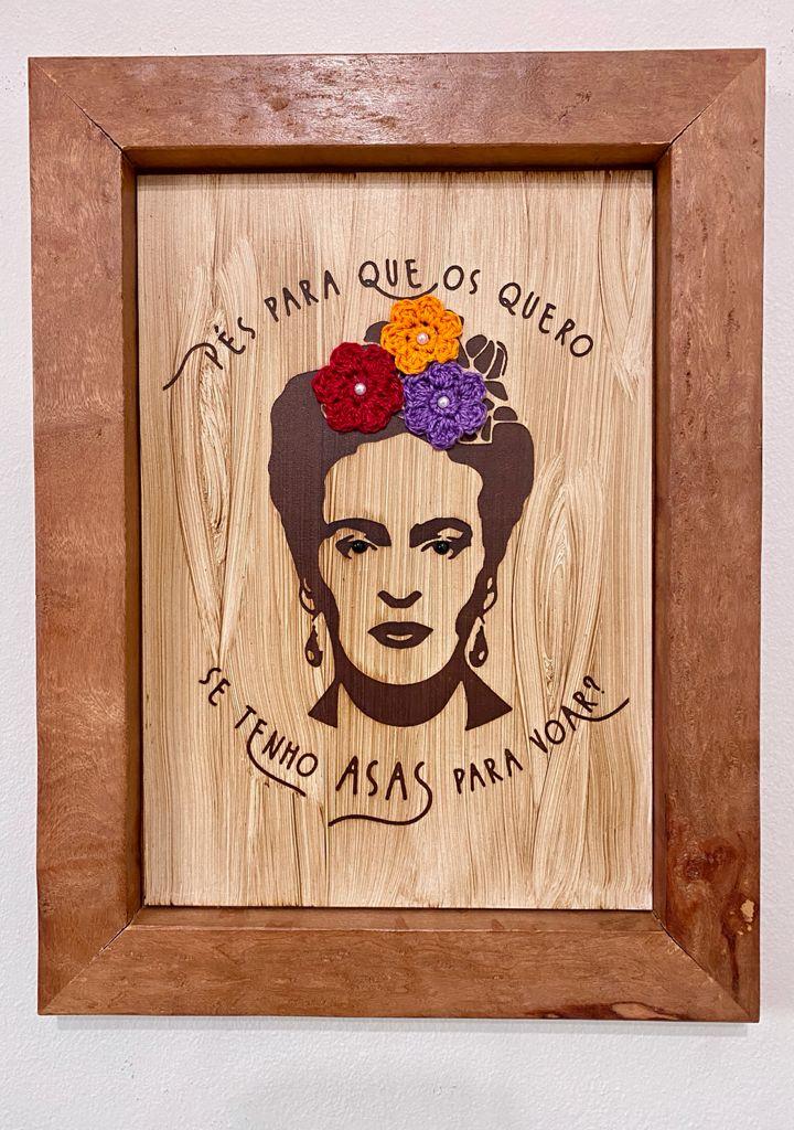 Quadro Frida - Pés Para Que Os Quero, Se tenho Asas Para Voar?