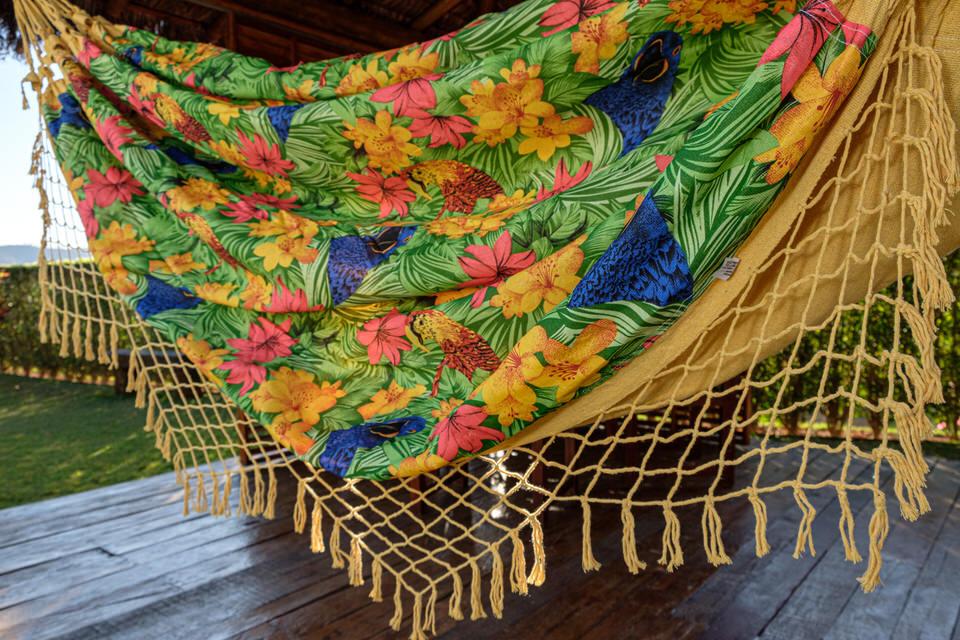 Rede Gorgurão Amarelo Tropical