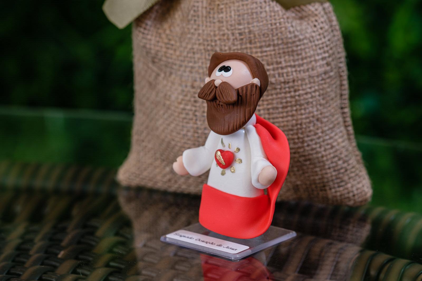 Sagrado Coração de Jesus em Biscuit