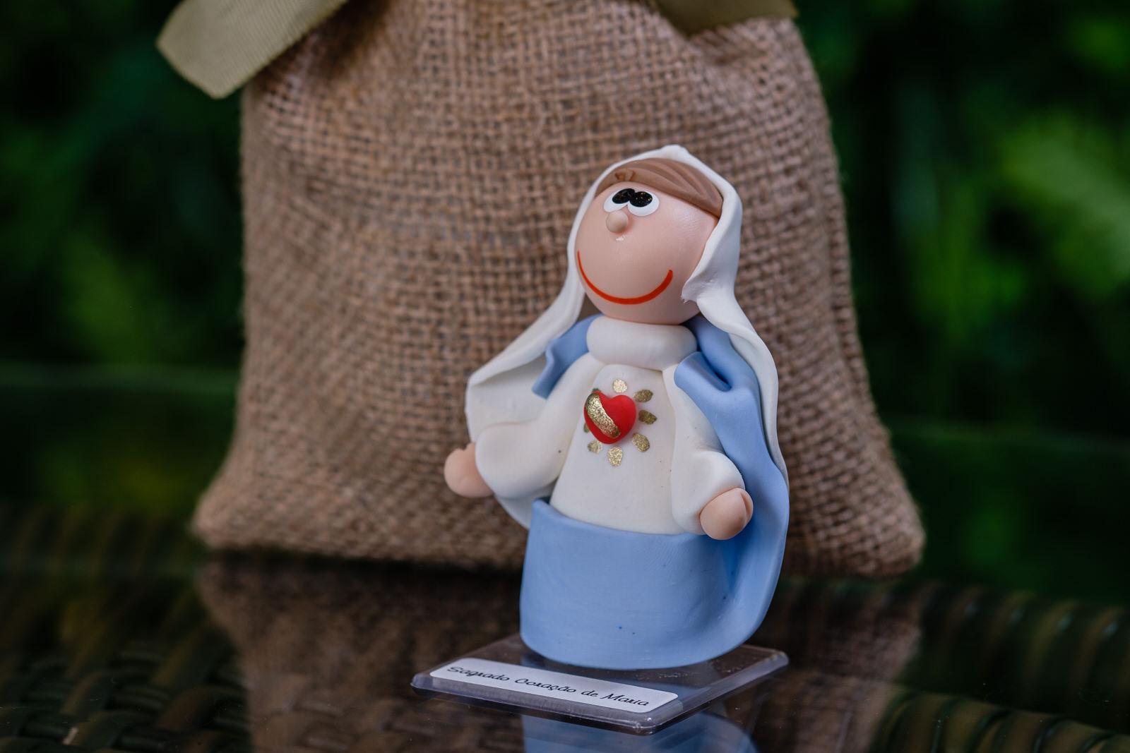Sagrado Coração de Maria em Biscuit