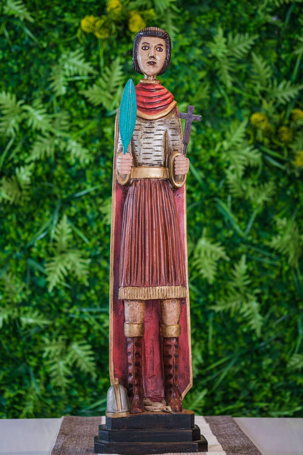 Santo Expedito em Madeira - 85 cm