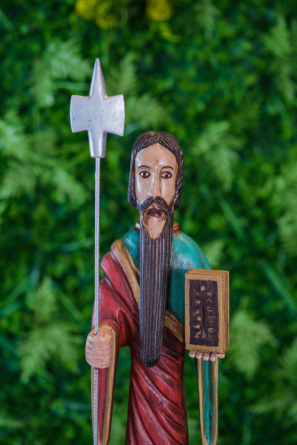 São Judas Tadeu em Madeira - 85 cm