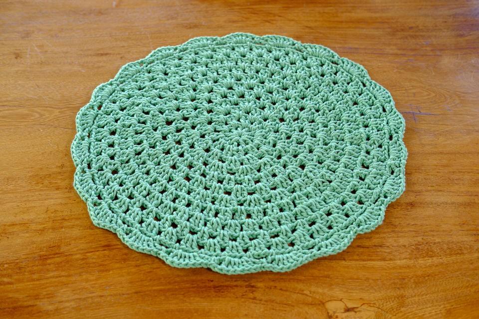 Sousplat em Crochê Verde Claro - Unidade
