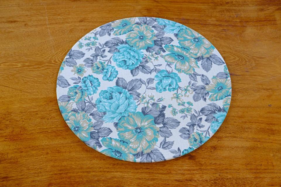Sousplat em Tecido Estampado em Flores Tiffanys - Unidade
