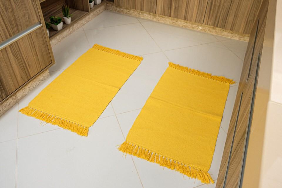 Tapete Amarelo 2 Peças