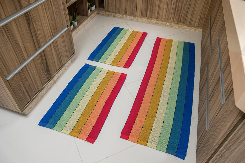 Tapete Arco-íris 3 Peças