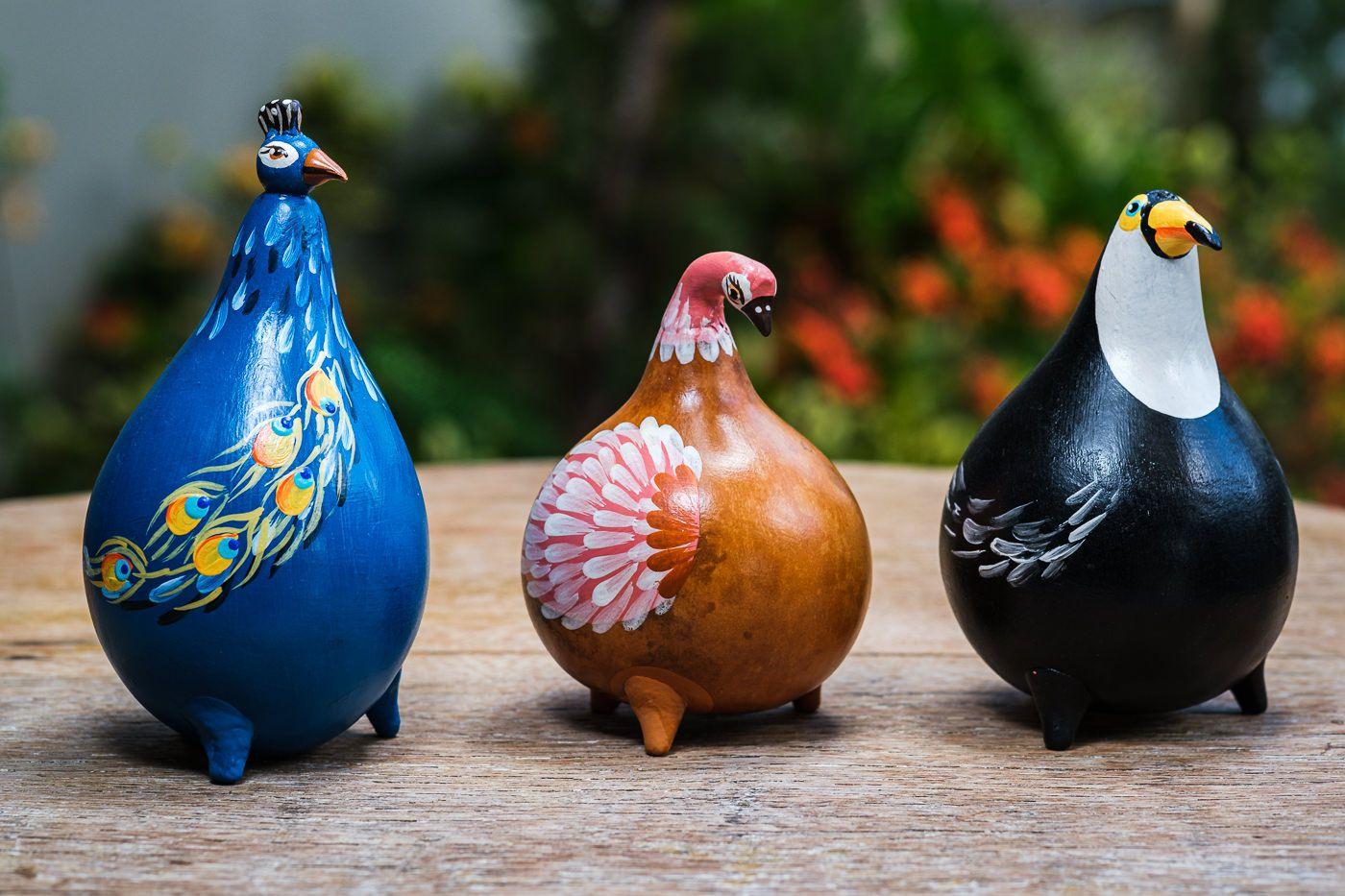 Trio de aves encantadoras