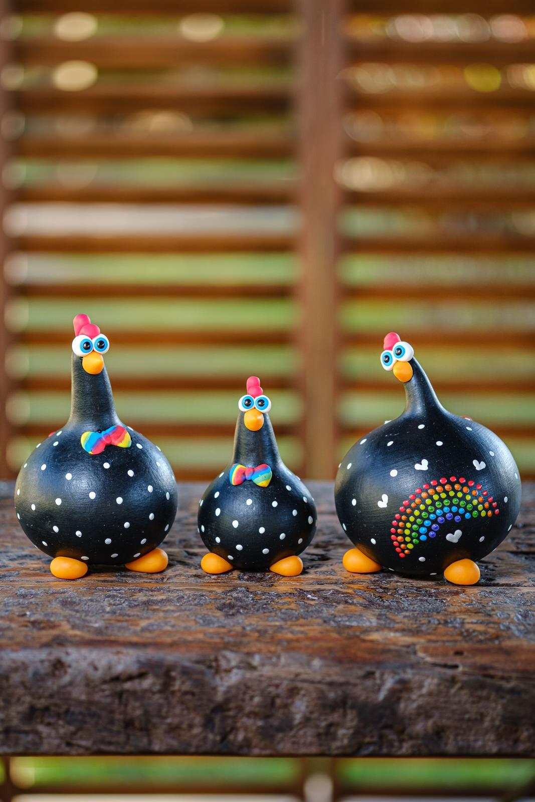 Trio de Galinha da Diversidade.