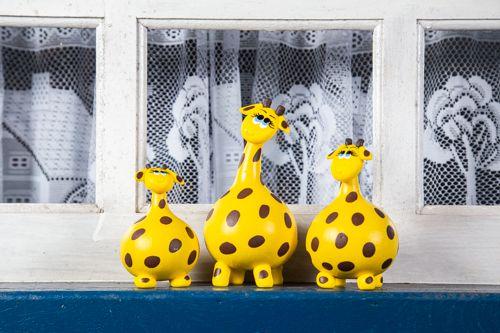 Trio de Girafas em Cabaça