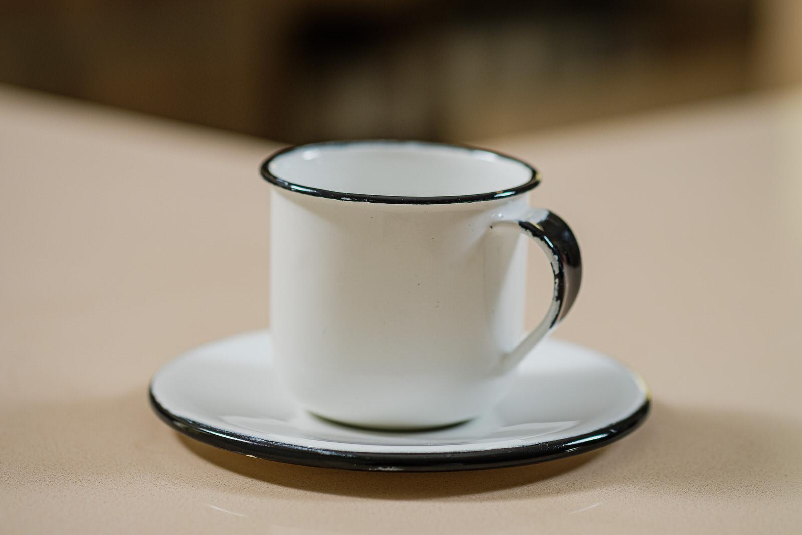 Xícara com Pires em Ágata Branca - 120 ml