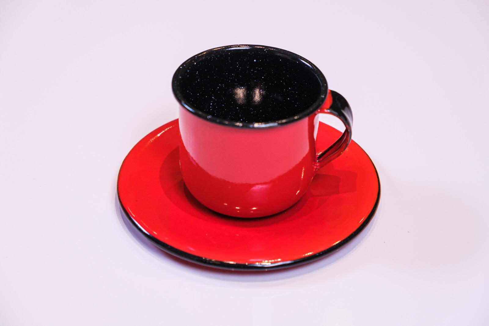 Xícara com Pires em Ágata Vermelha - 120 ml