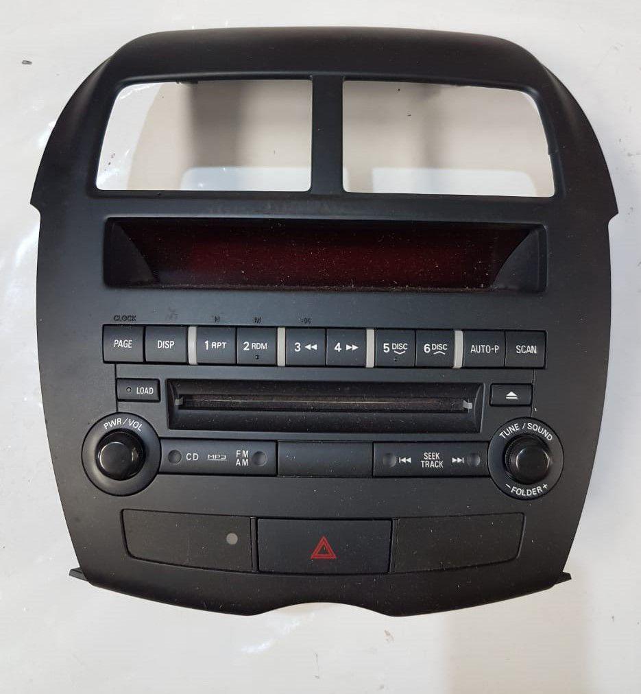 Painel Rádio Computador Bordo Cd Mitsubishi Asx