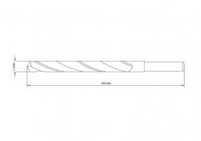 Broca Para Aço 1x34 mm Tramontina Pro 43141101