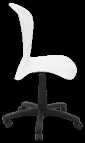 Cadeira Tramontina Jolie em Polipropileno Branco com Base Rodízio 92 Tramontina 92070010