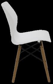 Cadeira Tramontina Maja Unicolor em Polipropileno Branco com Base 3D 92 Tramontina 92066010