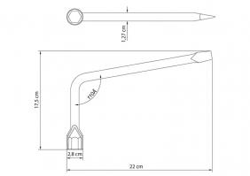 Chave de Roda Tipo L 19 mm Tramontina com Corpo em Aço Especial Cromado  Tramontina 42830919