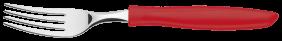 Garfo de Mesa Tramontina Plenus com Lâmina em Aço Inox e Cabo de Polipropileno Vermelho 2 Tramontina 23412470