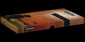 Jogo Campeiro Tramontina Com Lâminas Em Aço Inox e Cabos de Madeira Com Bainha de Couro 2 Peças 26099081
