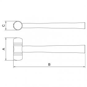 Martelo de borda em ABS 40 mm  Tramontina 40670041
