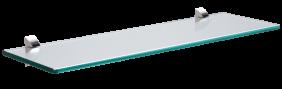 Prateleira de Vidro Tramontina Glass Reta com Suporte Injetado 400x150x8 mm  Tramontina 91220415