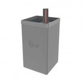 Vaso Autoirrigável Tramontina em Polipropileno Cinza 13 X 13 X 26 800 ml 78130065